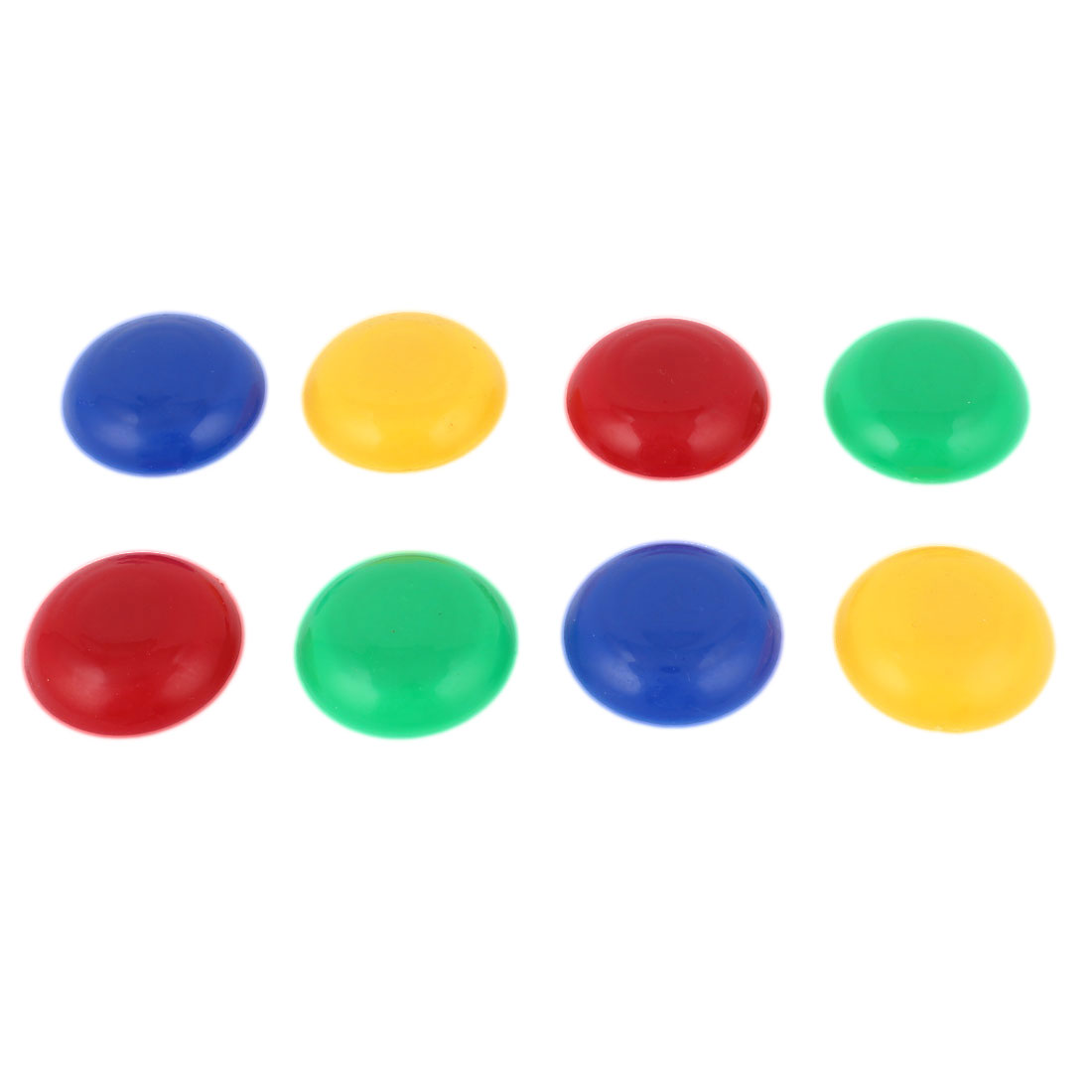 8 Pcs 40mm Dia Assorted Color Plastic Round Blackboard Whiteboard Washing Machine Fridge Magnetic Sticker