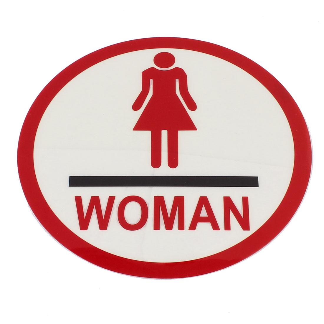 Women W.C. Restroom Washroom Toilet Door Wall Notice Self Adhesive Sign Sticker Instruction Board