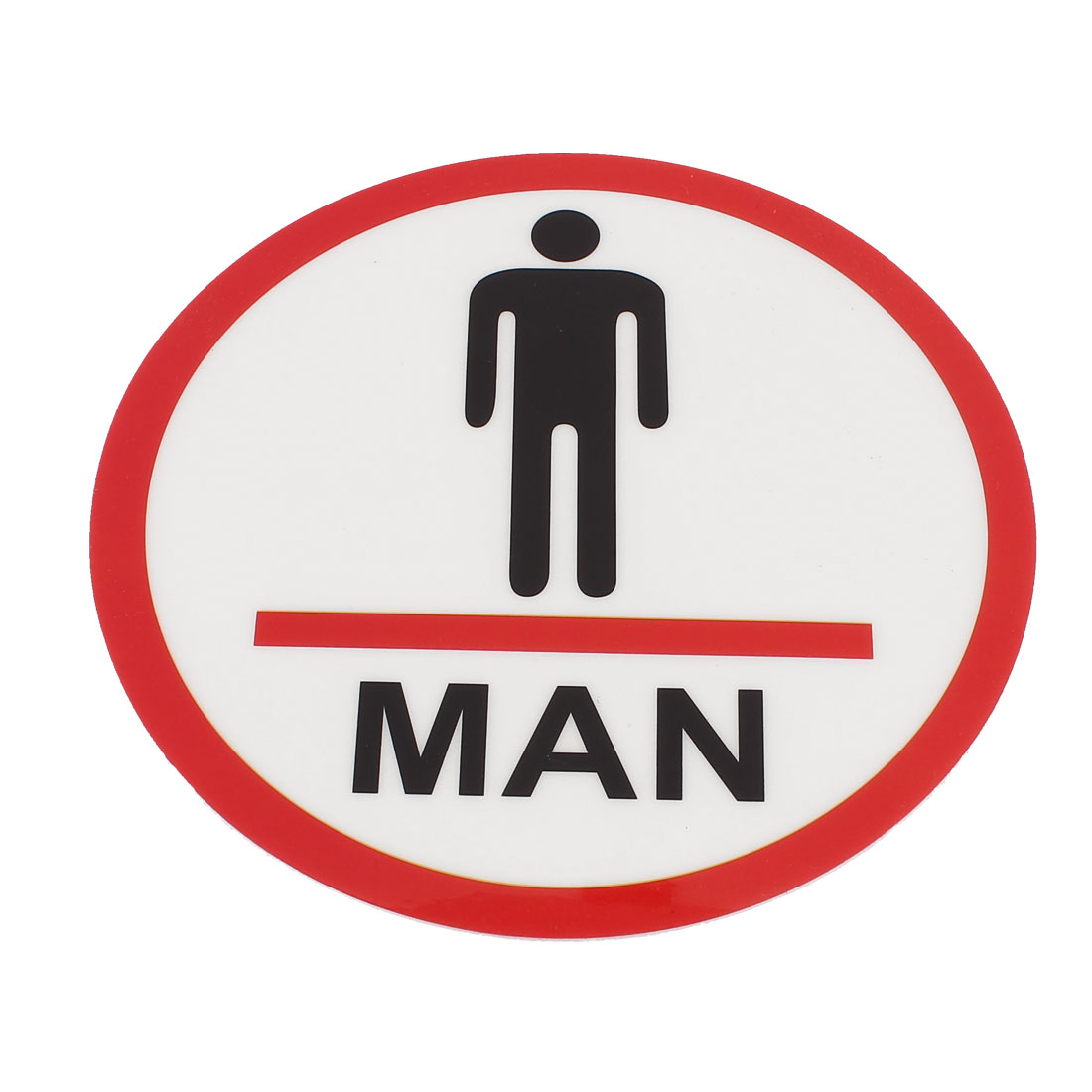Men W.C. Restroom Washroom Toilet Door Wall Notice Sign Sticker Instruction Board
