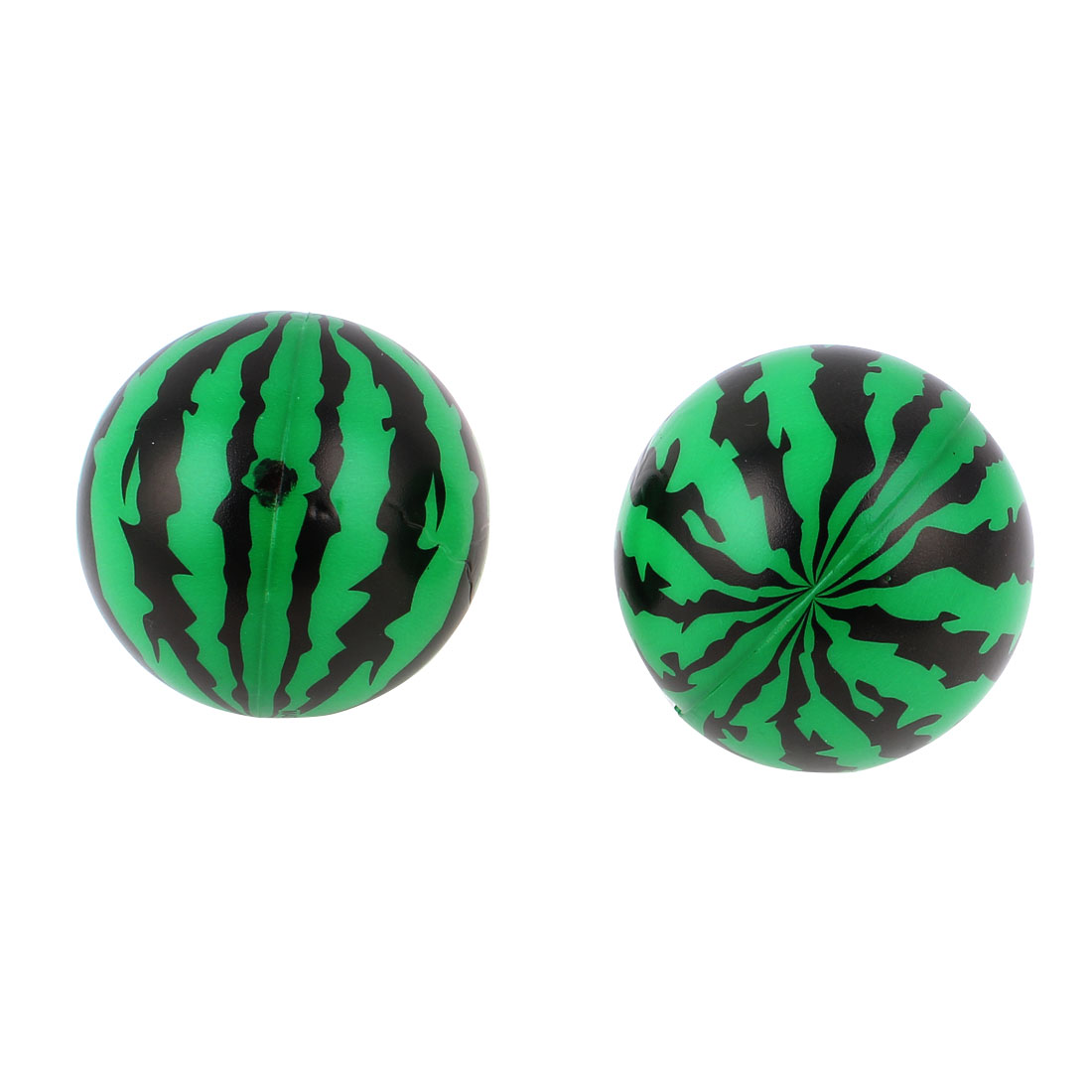 2pcs Green Foam Watermelon Shaped Hand Wrist Finger Exercise Stress Relief Therapy Squeeze Ball
