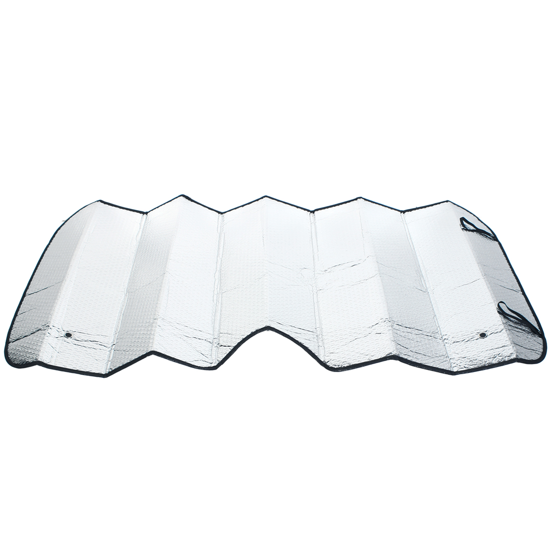 Car Vehicle Auto Windsreen Front Window Visor Windshield Sunshade Silver Tone 126cm x 60cm w Suction Cup