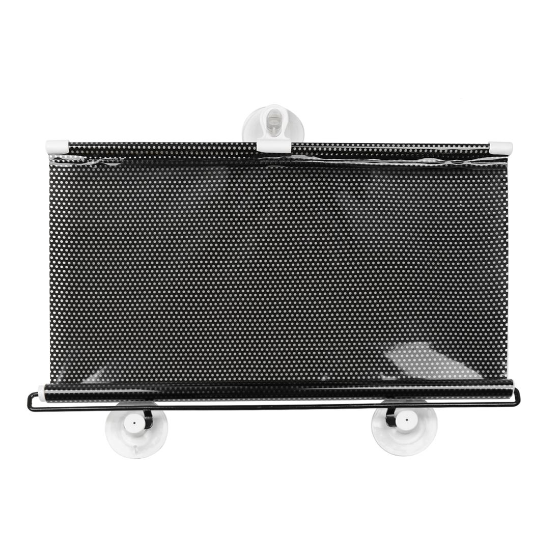 40cmx60cm Black Auto Car Sides Window Vinyl Auto-roll Foldable Guard Sun Shade Sunshade