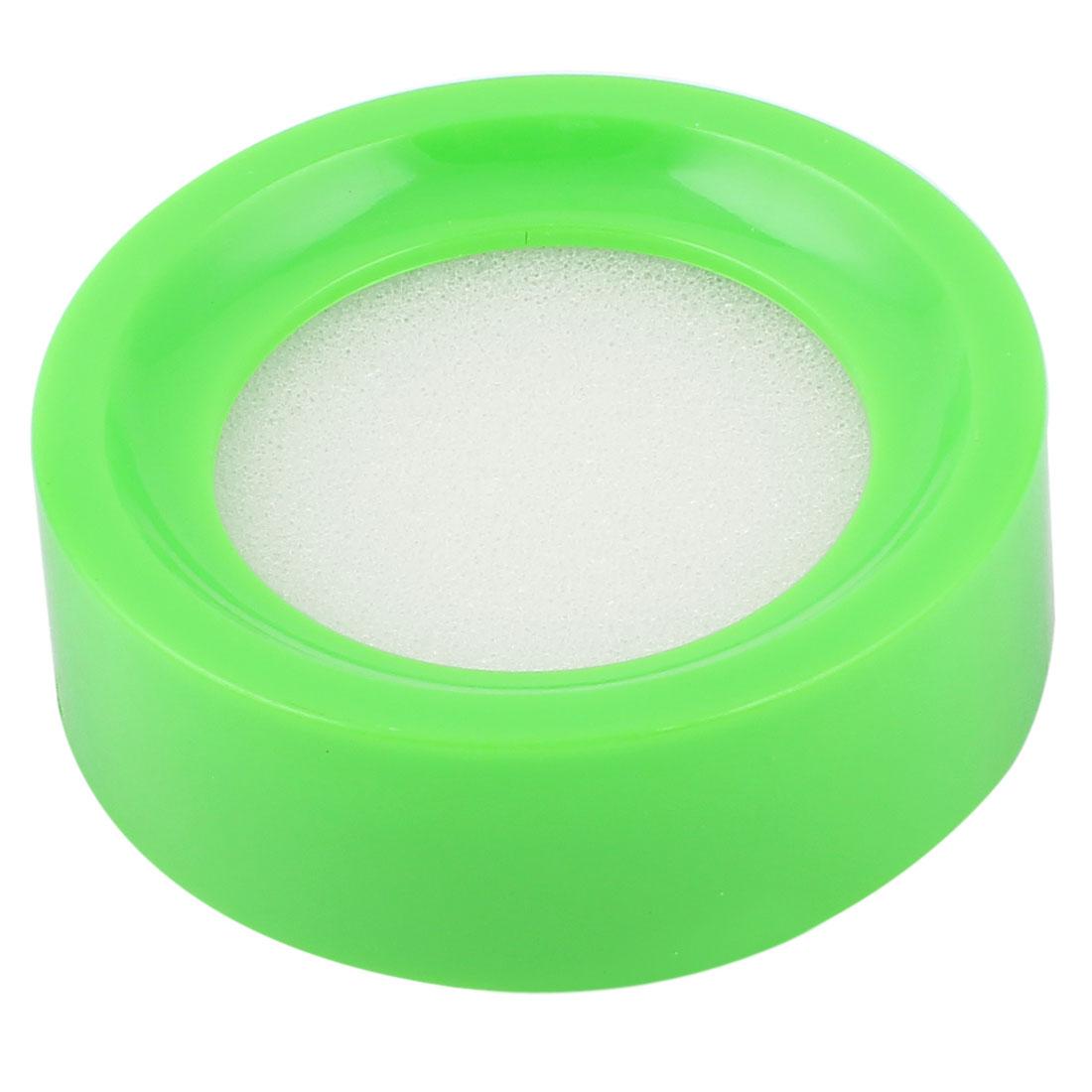 Plastic Bank Money Casher Round Case White Finger Wet Sponge Device Green