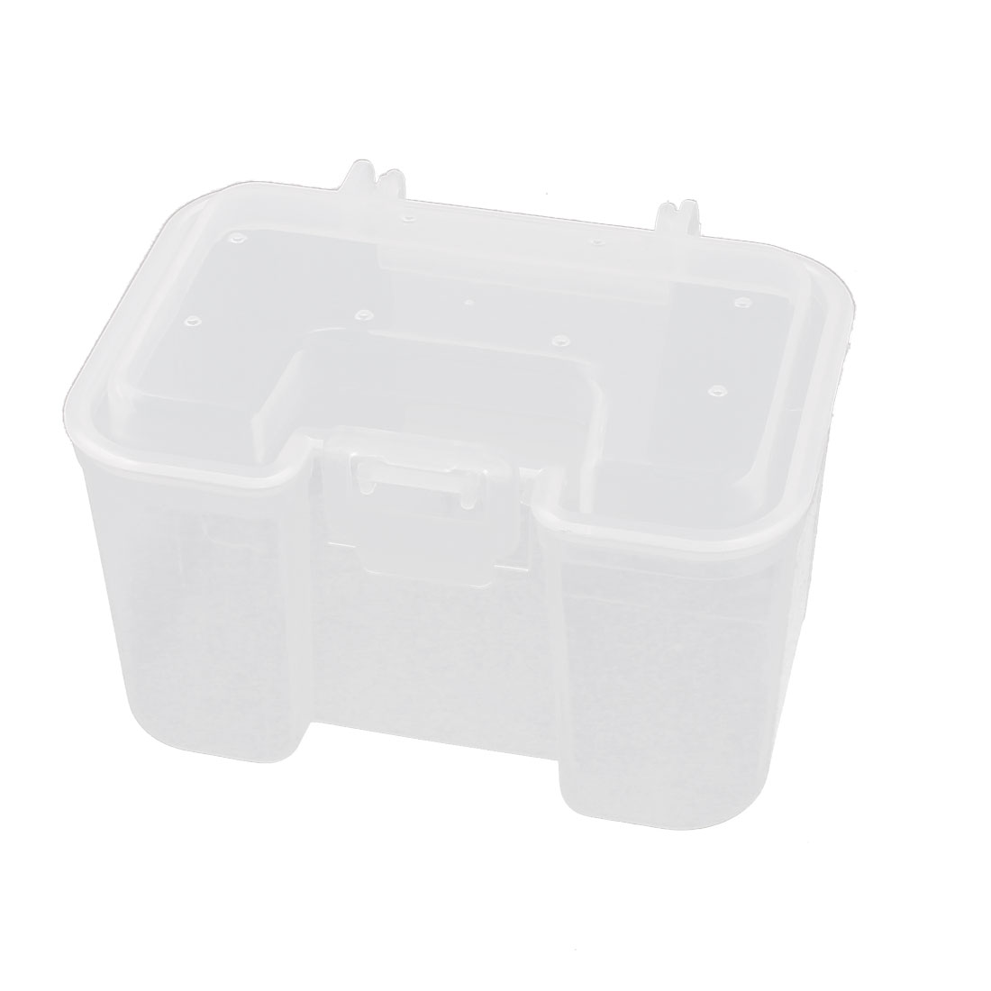 Angler Fishing Clear White Plastic Lure Bait Case Storage Box Holder 11cmx8cm
