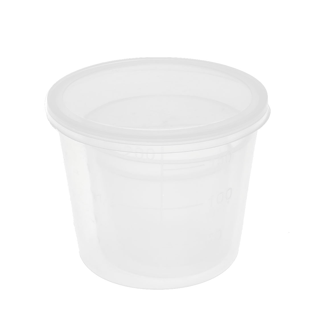 3 in 1 Clear White Plastic Fishing Measuring Measure Cups 40ml 90ml 150ml
