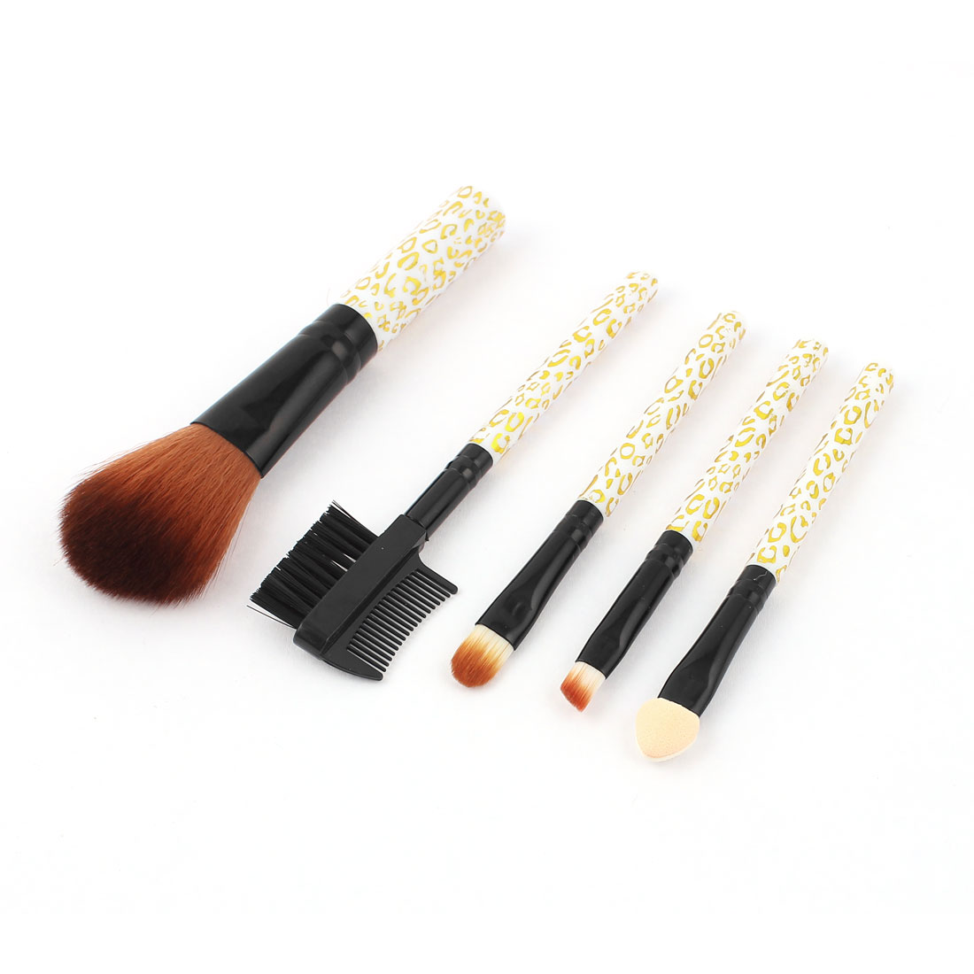 5 in 1 Makeup Cosmetic Blush Brush Eyeshadow Applicator Lip Eyebrow Powder Brushes Set for Lady