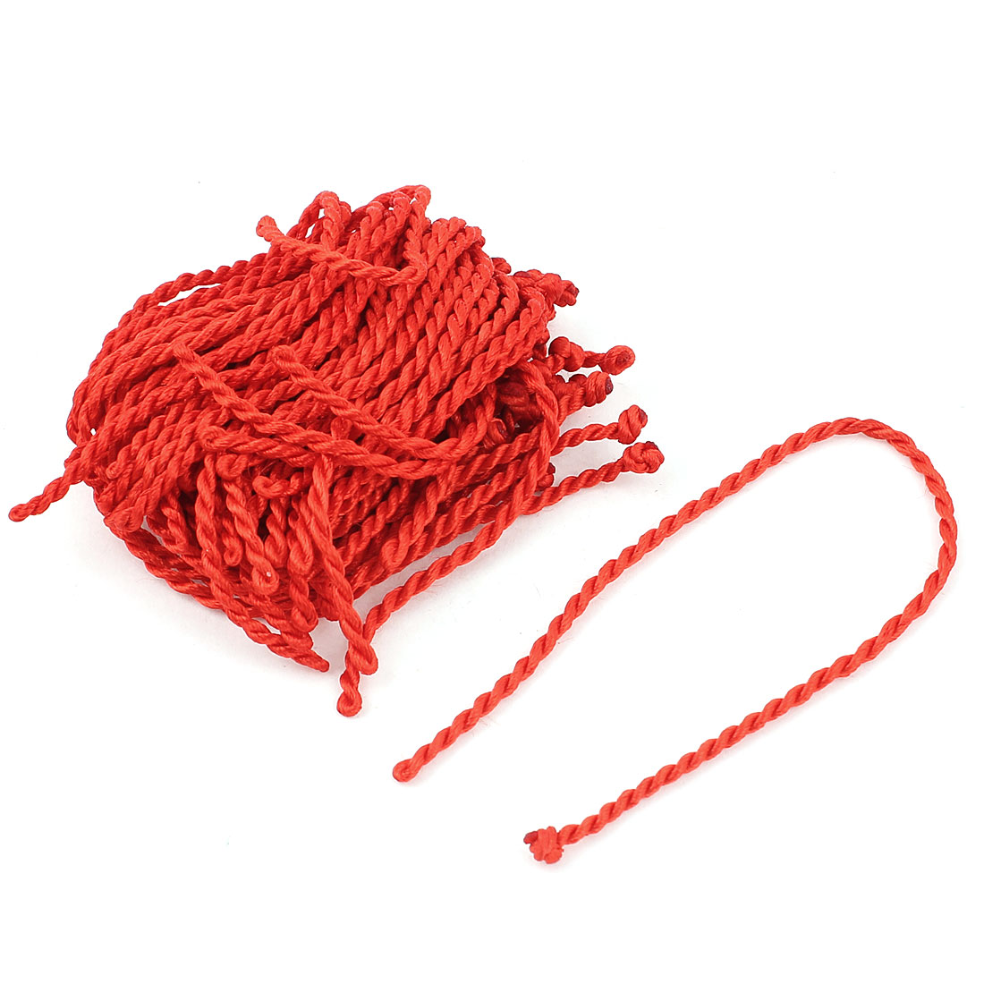 "34pcs 20cm 8"" Long Red Nylon DIY Braided Lucky String Bracelet Knotting Cord Wrist Strap Rope"