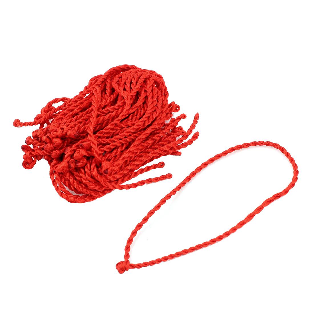 "30pcs 23cm 9"" Long Red Nylon Braided Lucky Knotting Cord DIY Bracelet Wrist Decor String Strap Rope"