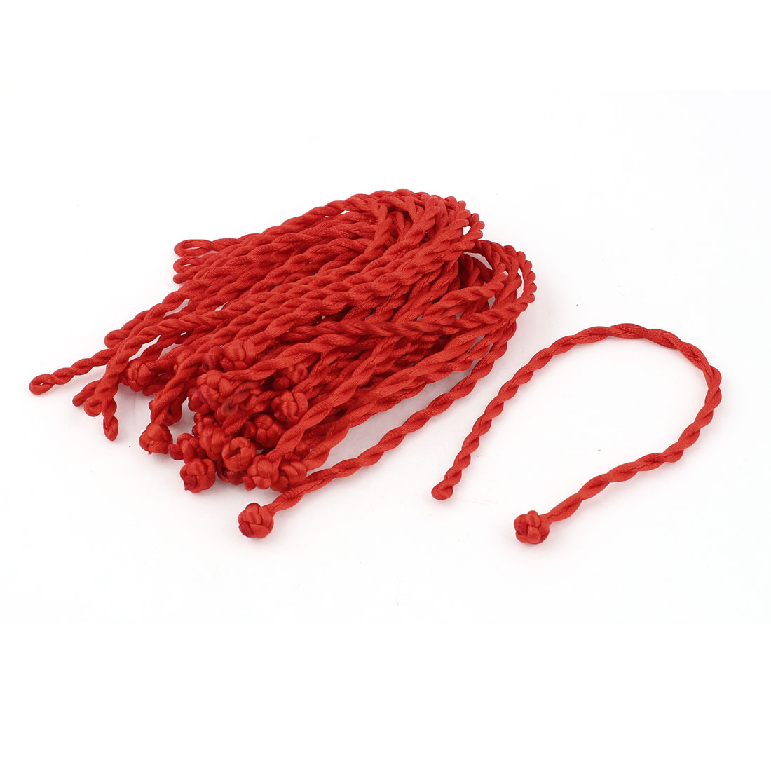 "27pcs 20cm 8"" Long Red Nylon Braided Lucky Strap DIY Wrist Decor Bracelet String Rope"