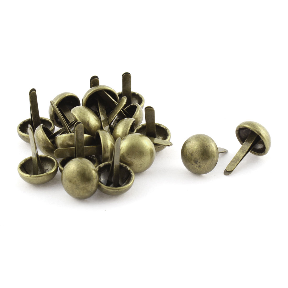 1.5cm Dia Round Shape Clothes Decorative Metal Split Rivet Bronze Tone 20Pcs