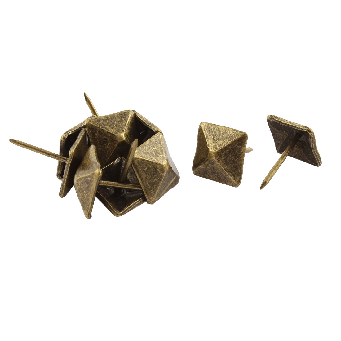 1.4cm Metal Square Pin Furniture Decorative Domed Nails Bronze Tone 10Pcs