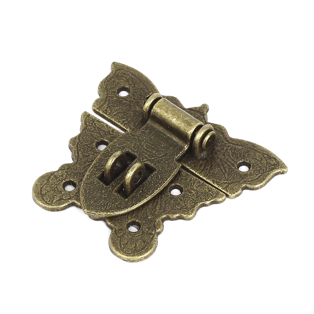 Cabinet Boxes Butterfly Metal Toggle Latch Catch Hasp with Screws Bronze Tone