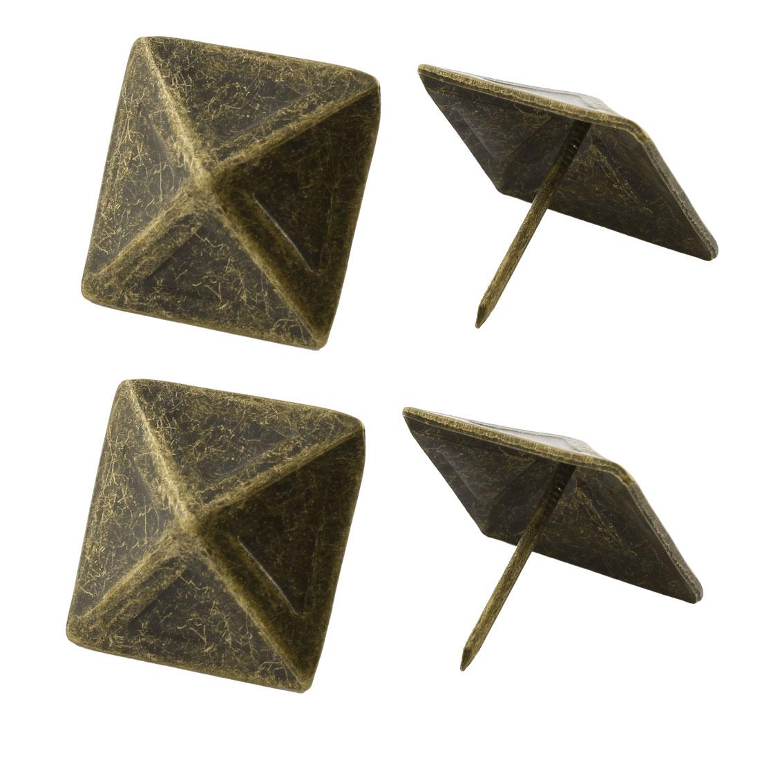3cm Metal Square Pin Furniture Decorative Domed Nails Bronze Tone 4Pcs