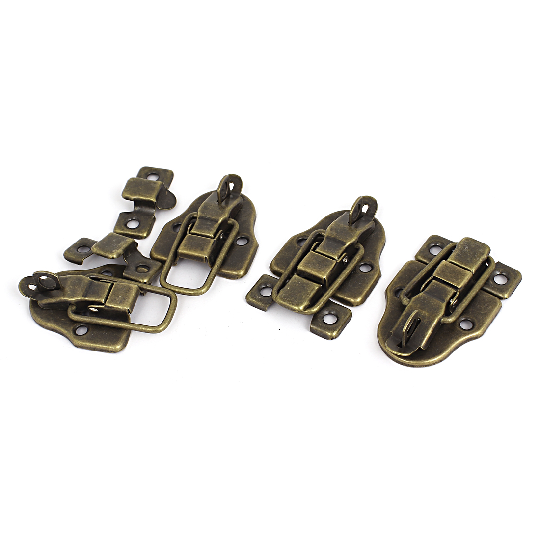 Boxes Duckbilled Metal Toggle Latch Catch Hasp Bronze Tone 4PCS