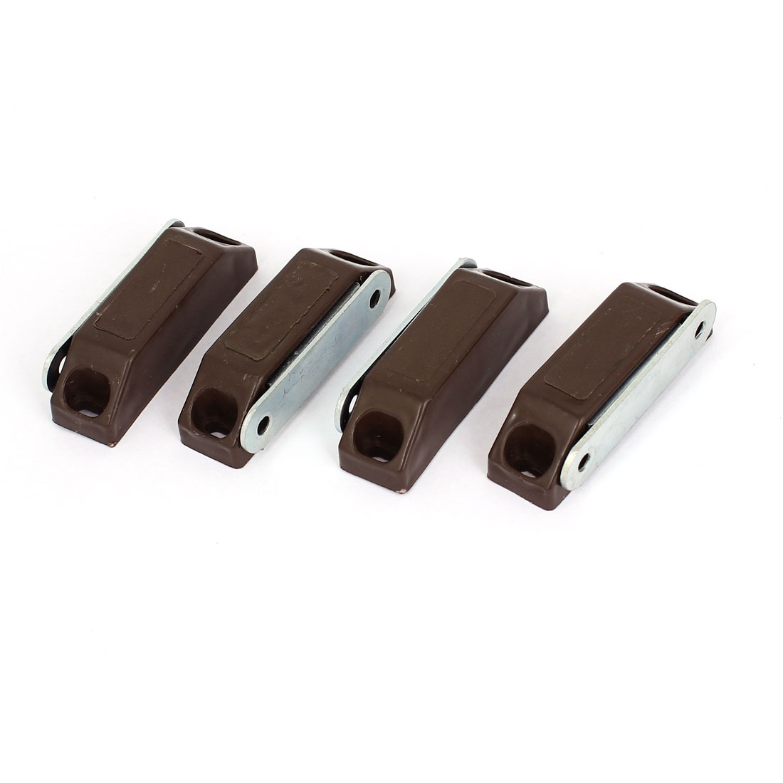 Home Office Metal Rectangle Door Magnetic Holder Brown 6cm Long 4Pcs