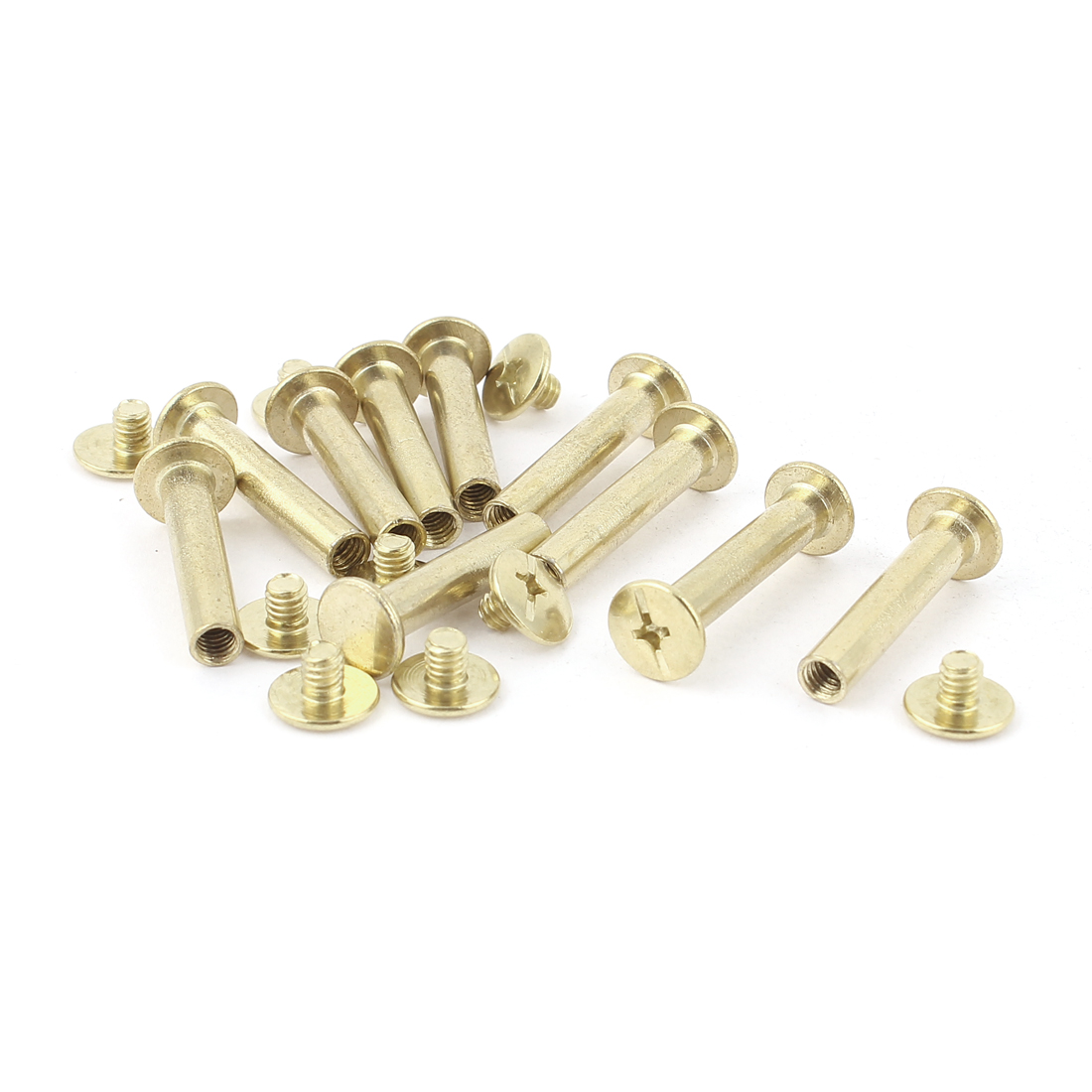 10pcs 5mm x 25mm Brass Plated Binding Chicago Screw Post for Album Scrapbook