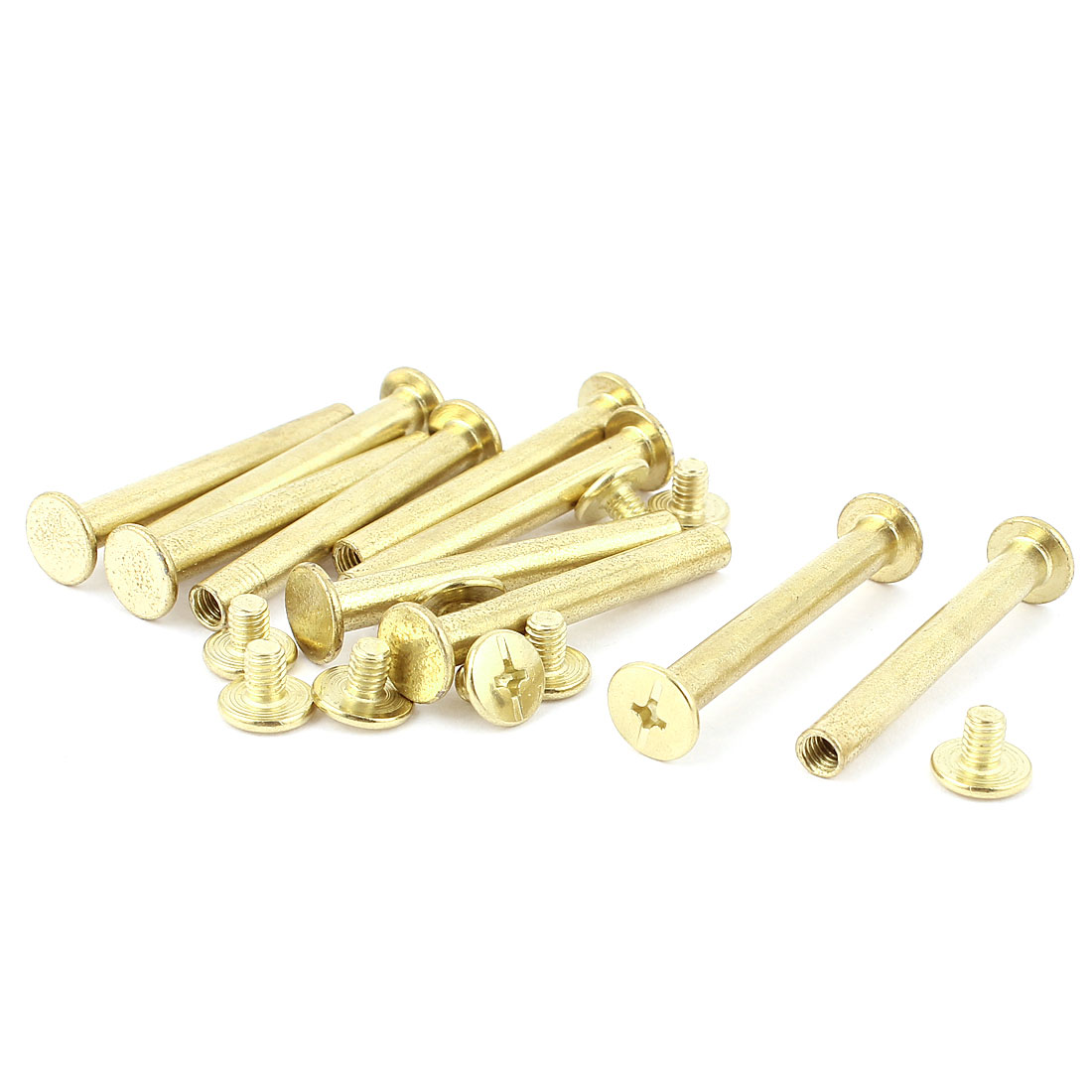 10pcs 5mmx40mm Brass Plated Binding Chicago Screw Post for Album Scrapbook