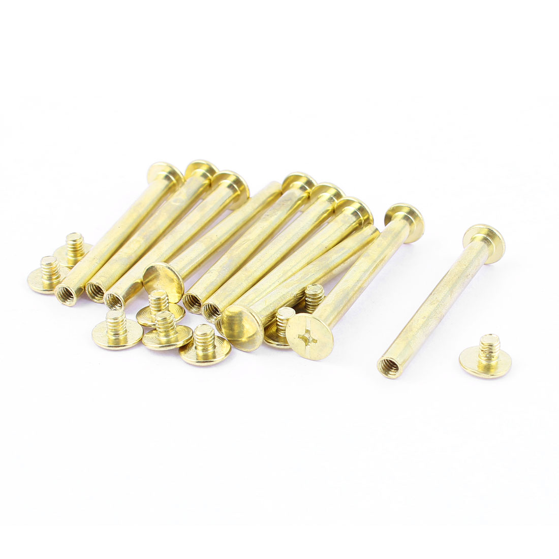 10pcs 5mmx45mm Brass Plated Binding Chicago Screw Post for Album Scrapbook