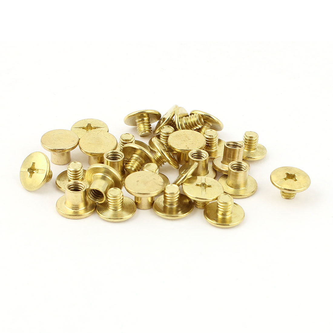10pcs 5mmx6mm Brass Plated Binding Chicago Screw Post for Belt Scrapbook