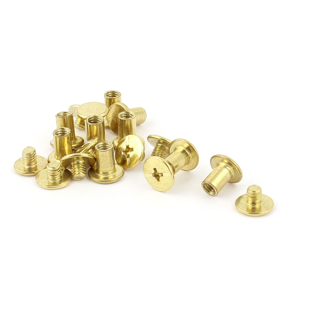 10pcs 5mmx8mm Brass Plated Binding Chicago Screw Post for Album Scrapbook