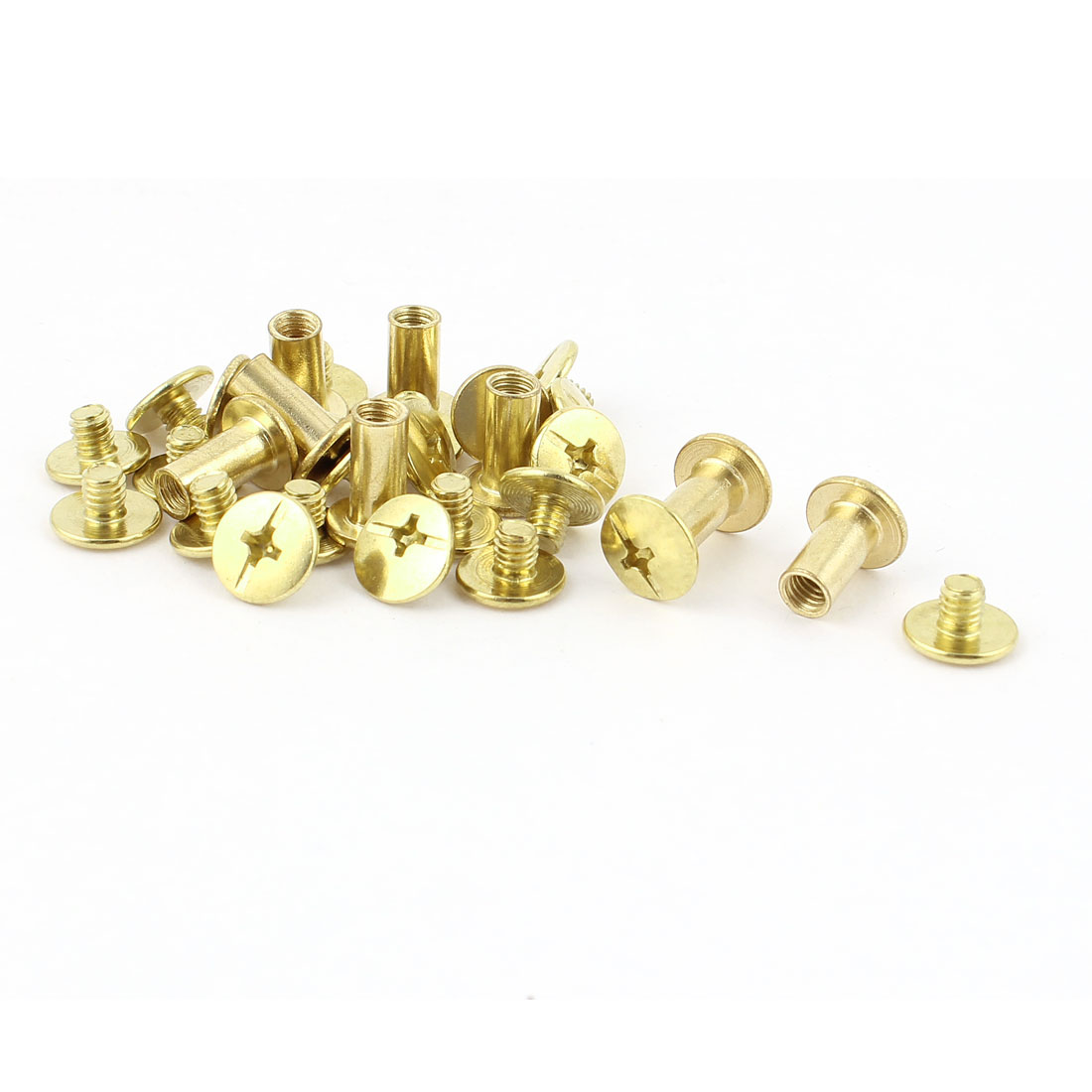 10pcs 5mmx10mm Brass Plated Binding Chicago Screw Post for Album Scrapbook