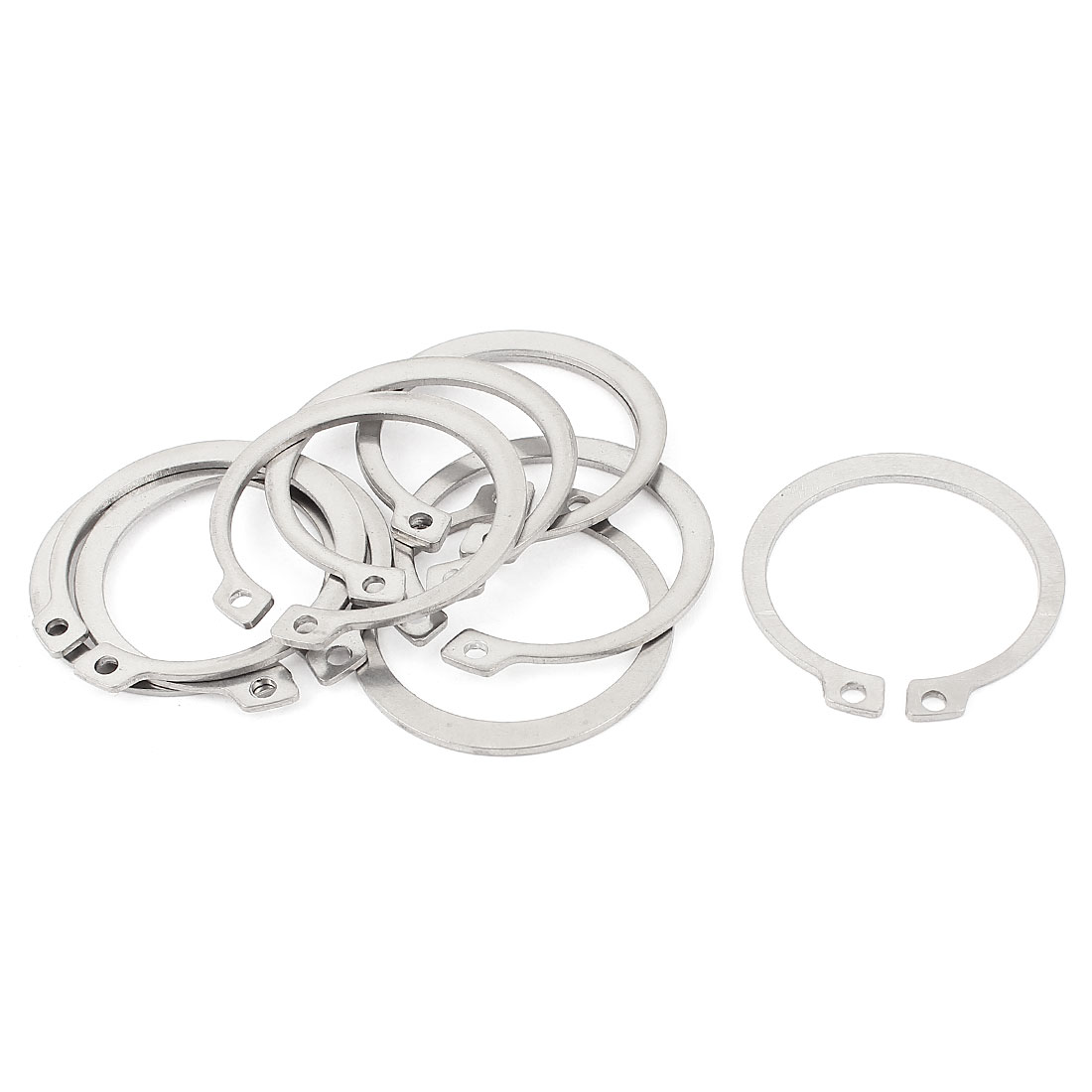 10pcs 304 Stainless Steel External Circlip Retaining Shaft Snap Rings 42mm