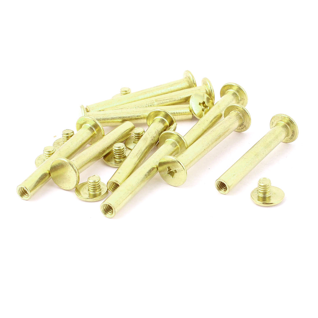 10pcs 5mmx35mm Brass Plated Binding Chicago Screw Post for Album Scrapbook