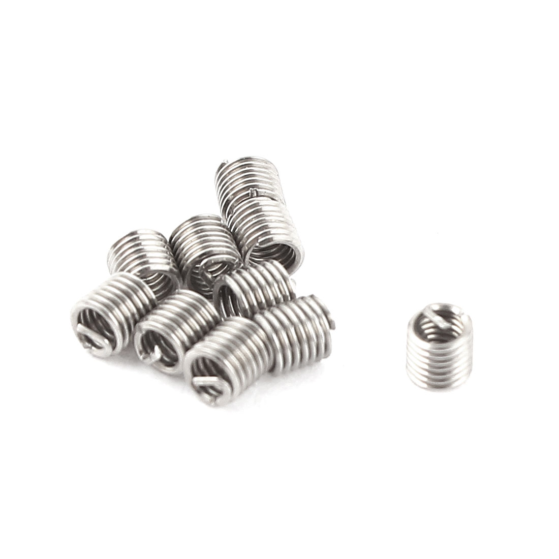 10Pcs 304 Stainless Steel Helicoil Wire Thread Repair Inserts M2 x 0.4mm x 2D