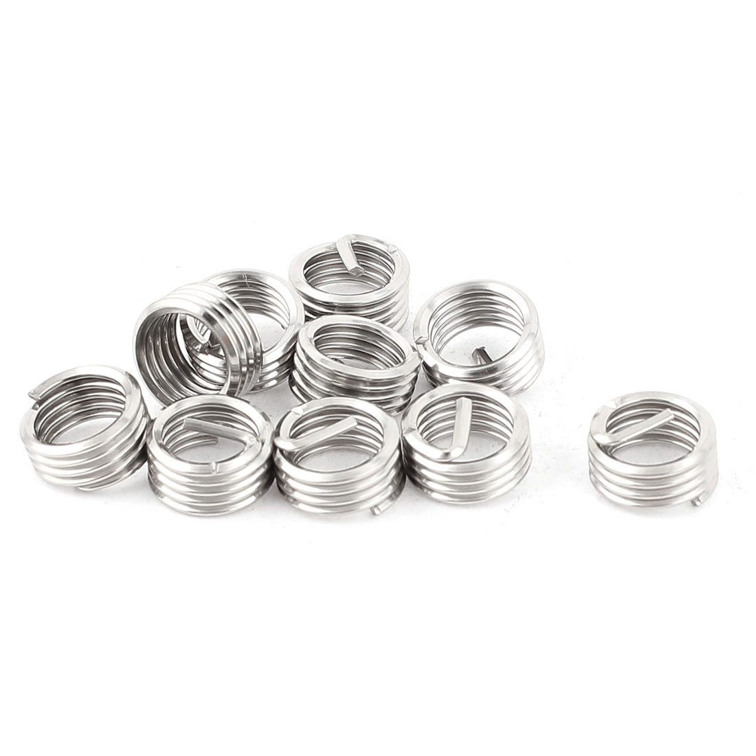 10Pcs 304 Stainless Steel Helicoil Wire Thread Repair Inserts M8 x 1.25mm x 1D