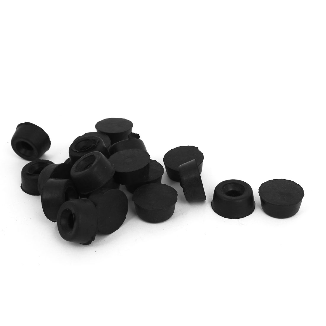 10mm Inner Dia Round Rubber Chair Table Foot Leg Cover Holder 20 Pcs
