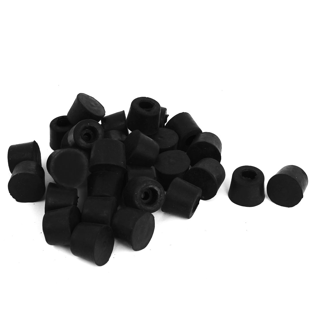10mm Hole Dia Rubber Chair Table Foot Leg Cover Holder Pads 50 Pcs