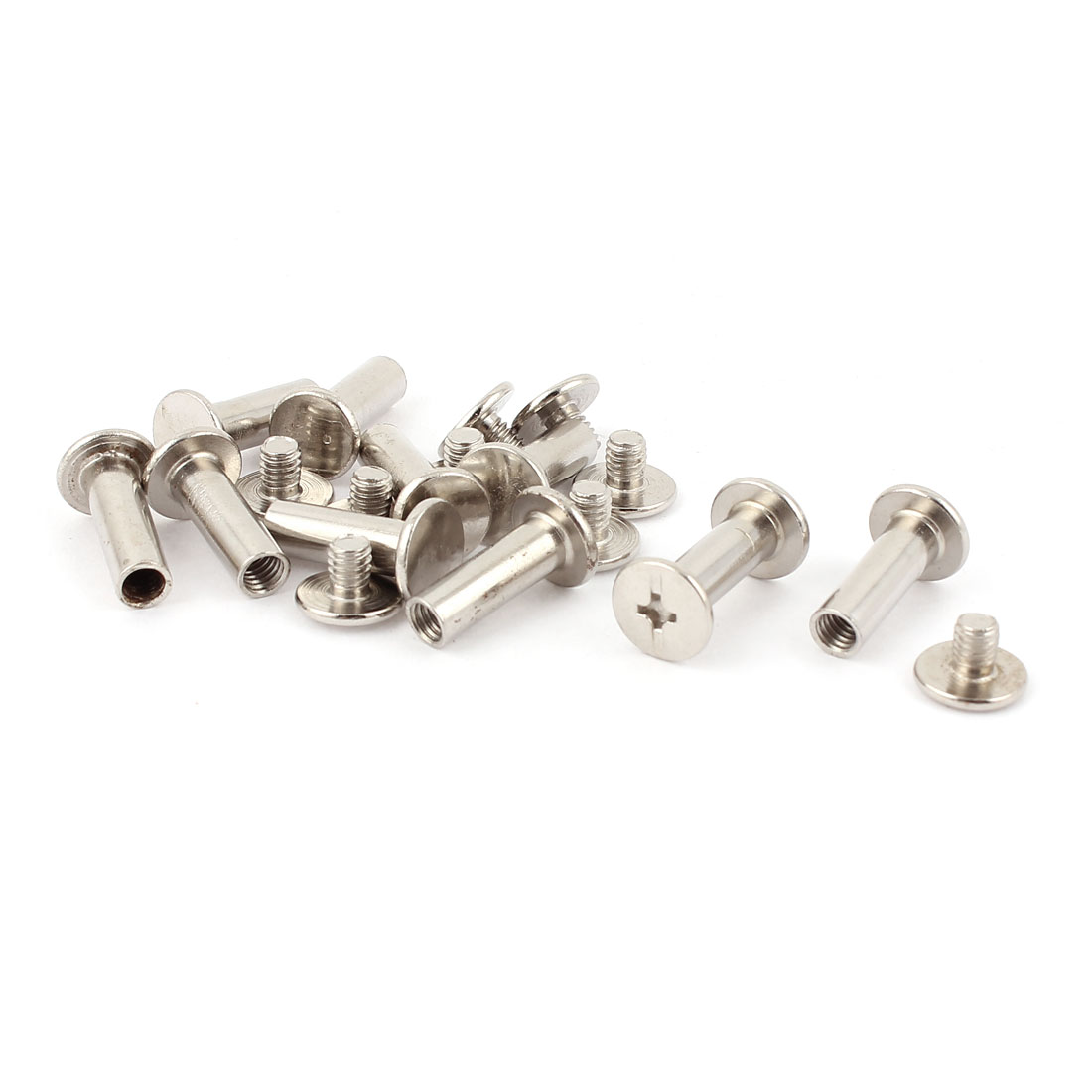 10pcs 5mmx15mm Nickel Plated Binding Chicago Screw Post for Album Scrapbook
