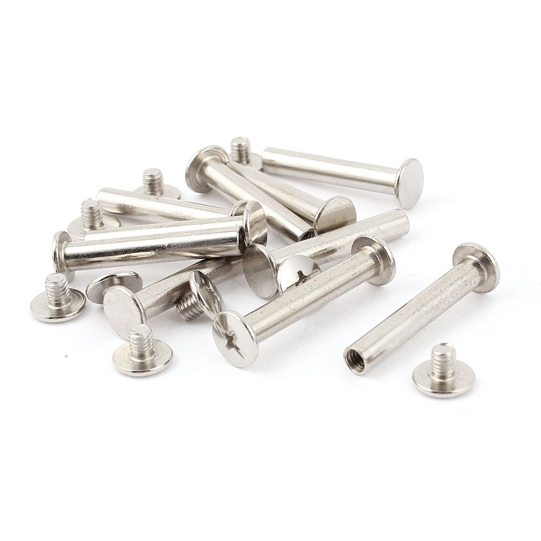 10pcs 5mmx25mm Nickel Plated Binding Chicago Screw Post for Album Scrapbook