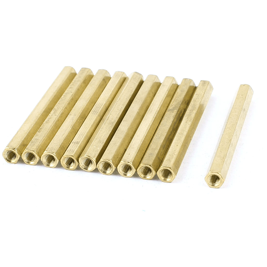 M3 x 50mm Female/Female Thread Brass Hex Standoff PCB Pillar Spacer 10pcs