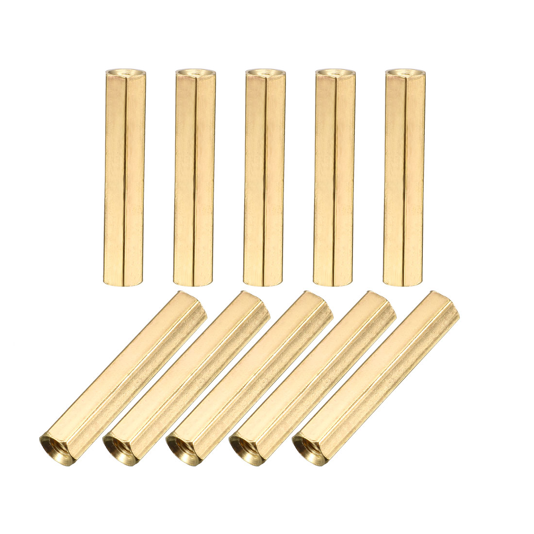M3 x 25mm Female/Female Thread Brass Hex Standoff PCB Pillar Spacer 10pcs