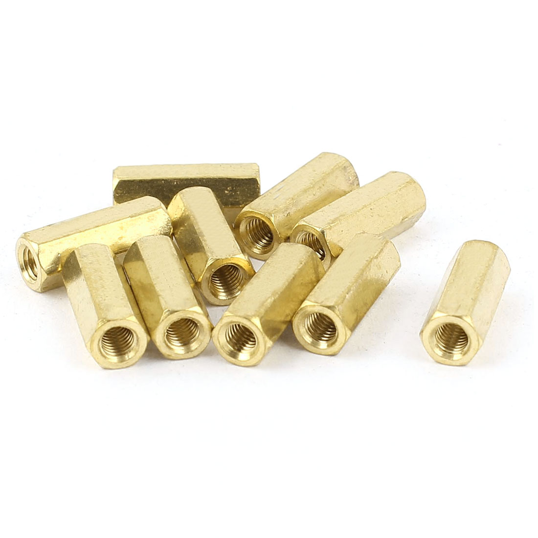 M3 x 13mm Female/Female Thread Brass Hex Standoff PCB Pillar Spacer 10pcs