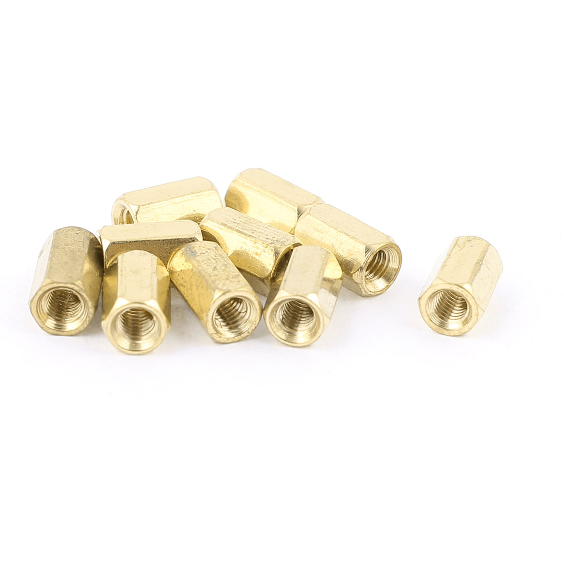 M3 x 8mm Female/Female Thread Brass Hex Standoff PCB Pillar Spacer 10pcs