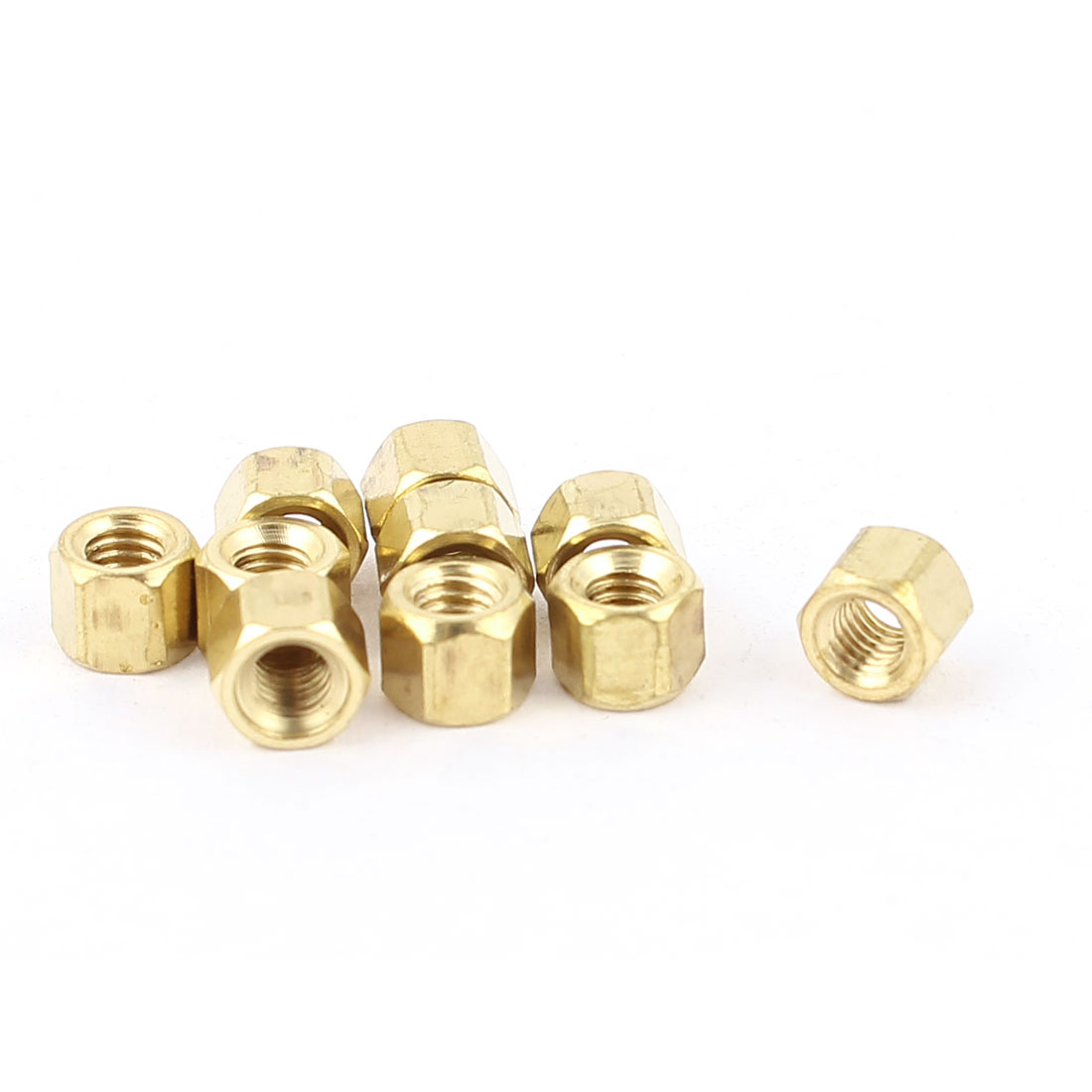 M3 x 4mm Female/Female Thread Brass Hex Standoff PCB Pillar Spacer 10pcs