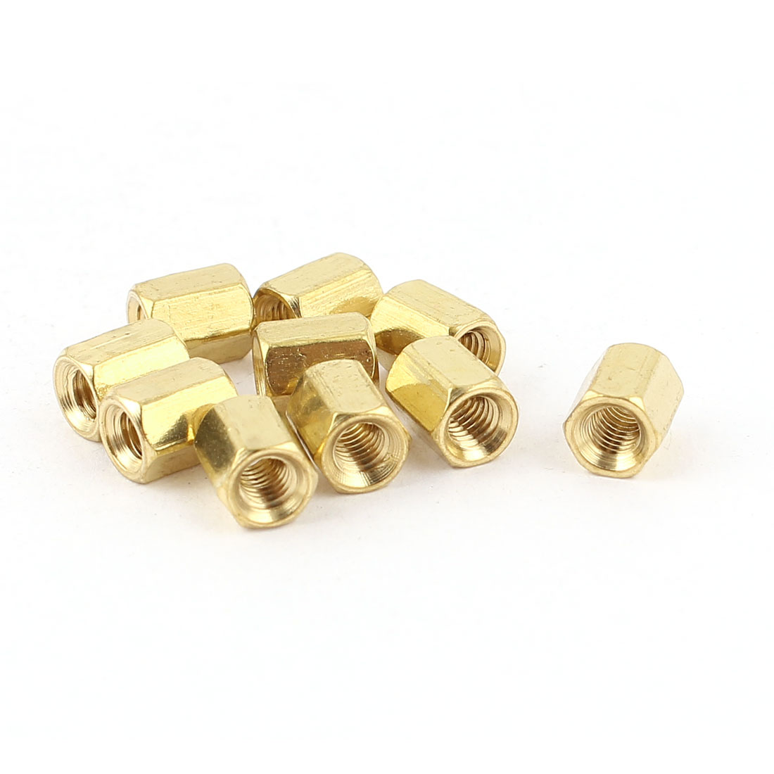 M3 x 6mm Female/Female Thread Brass Hex Standoff PCB Pillar Spacer 10pcs