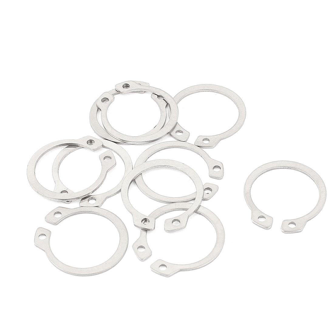 10pcs 304 Stainless Steel External Circlip Retaining Shaft Snap Rings 21mm