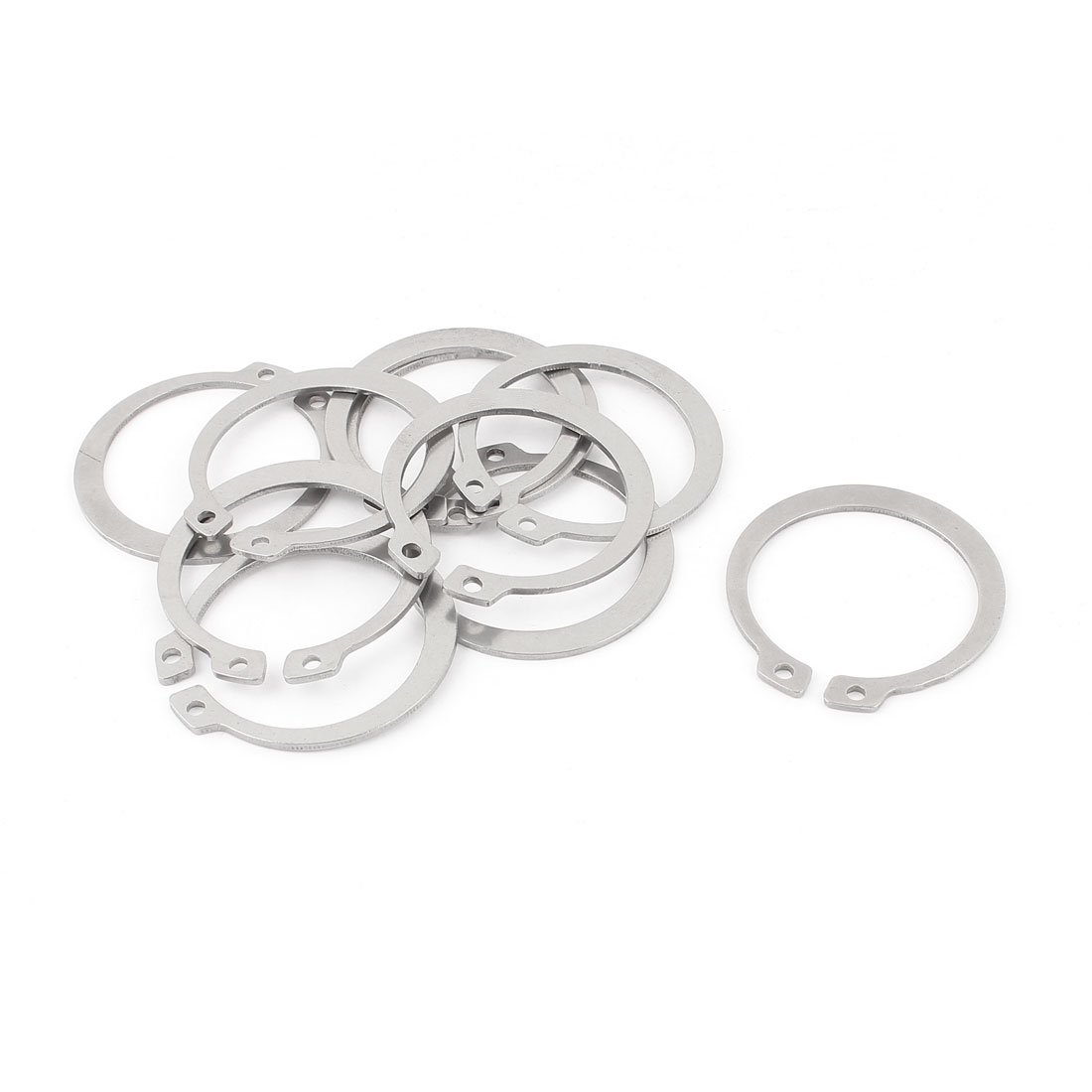 10pcs 304 Stainless Steel External Circlip Retaining Shaft Snap Rings 38mm