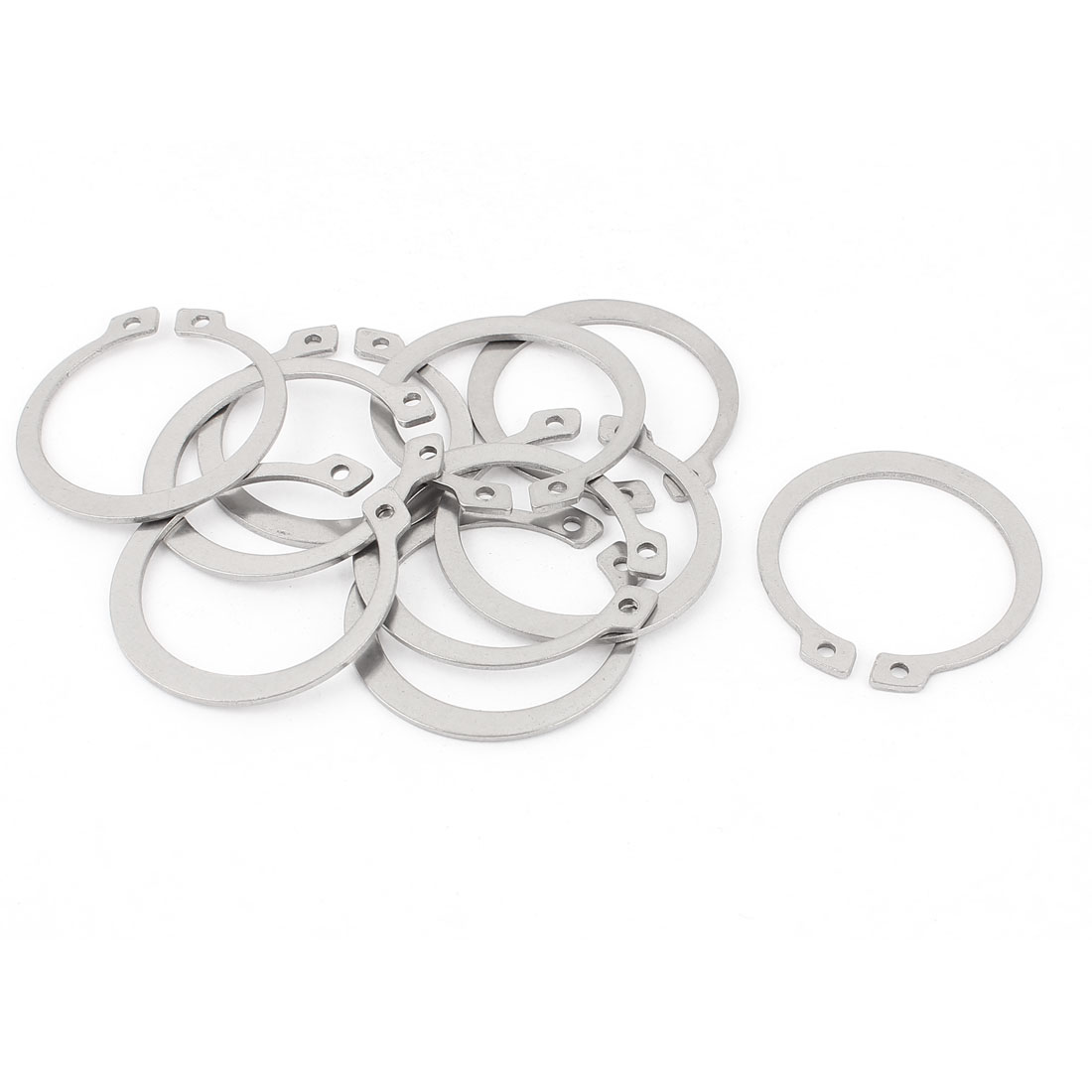 10pcs 304 Stainless Steel External Circlip Retaining Shaft Snap Rings 40mm