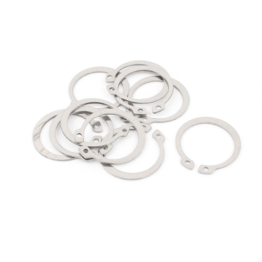 10pcs 304 Stainless Steel External Circlip Retaining Shaft Snap Rings 34mm