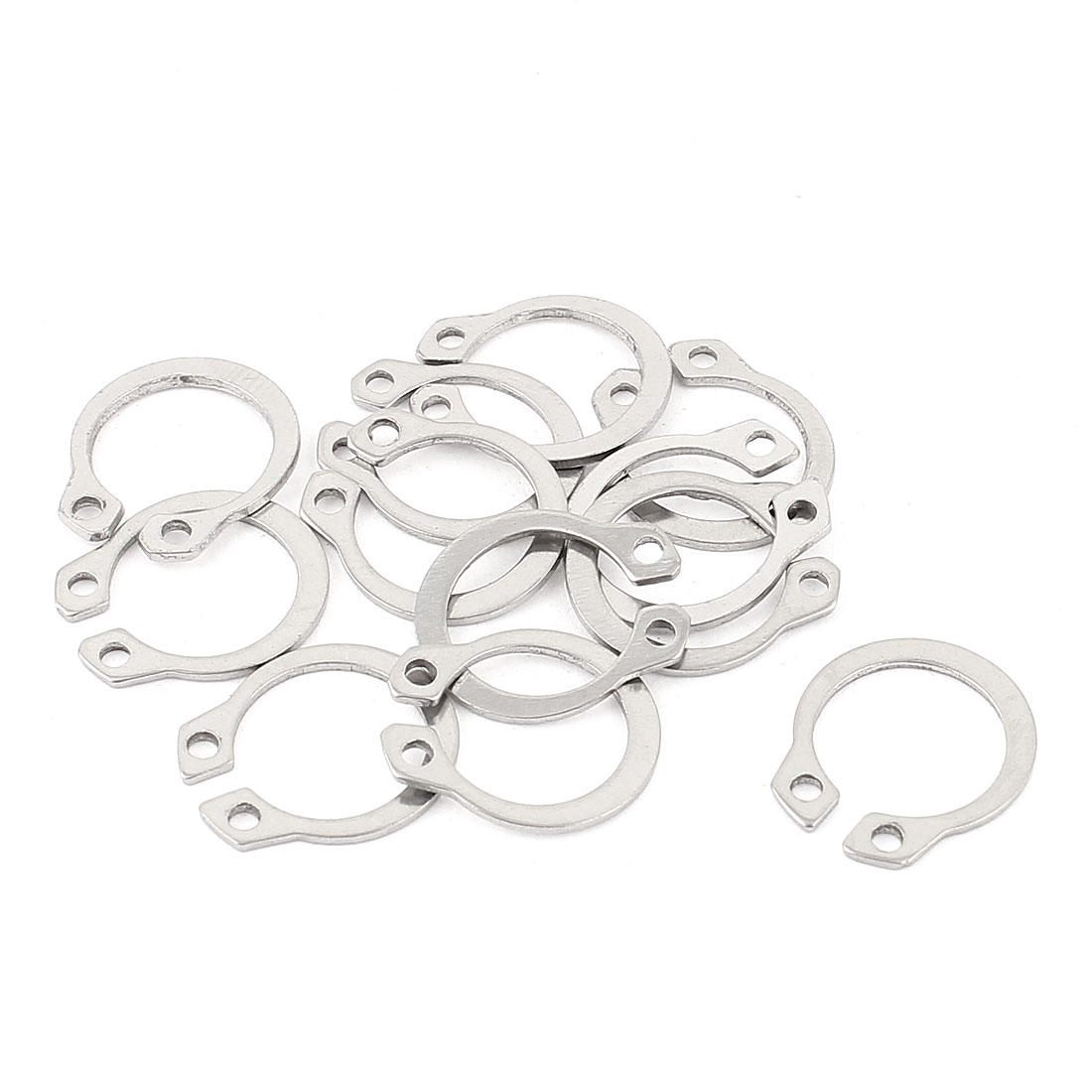 10pcs 304 Stainless Steel External Circlip Retaining Shaft Snap Rings 13mm