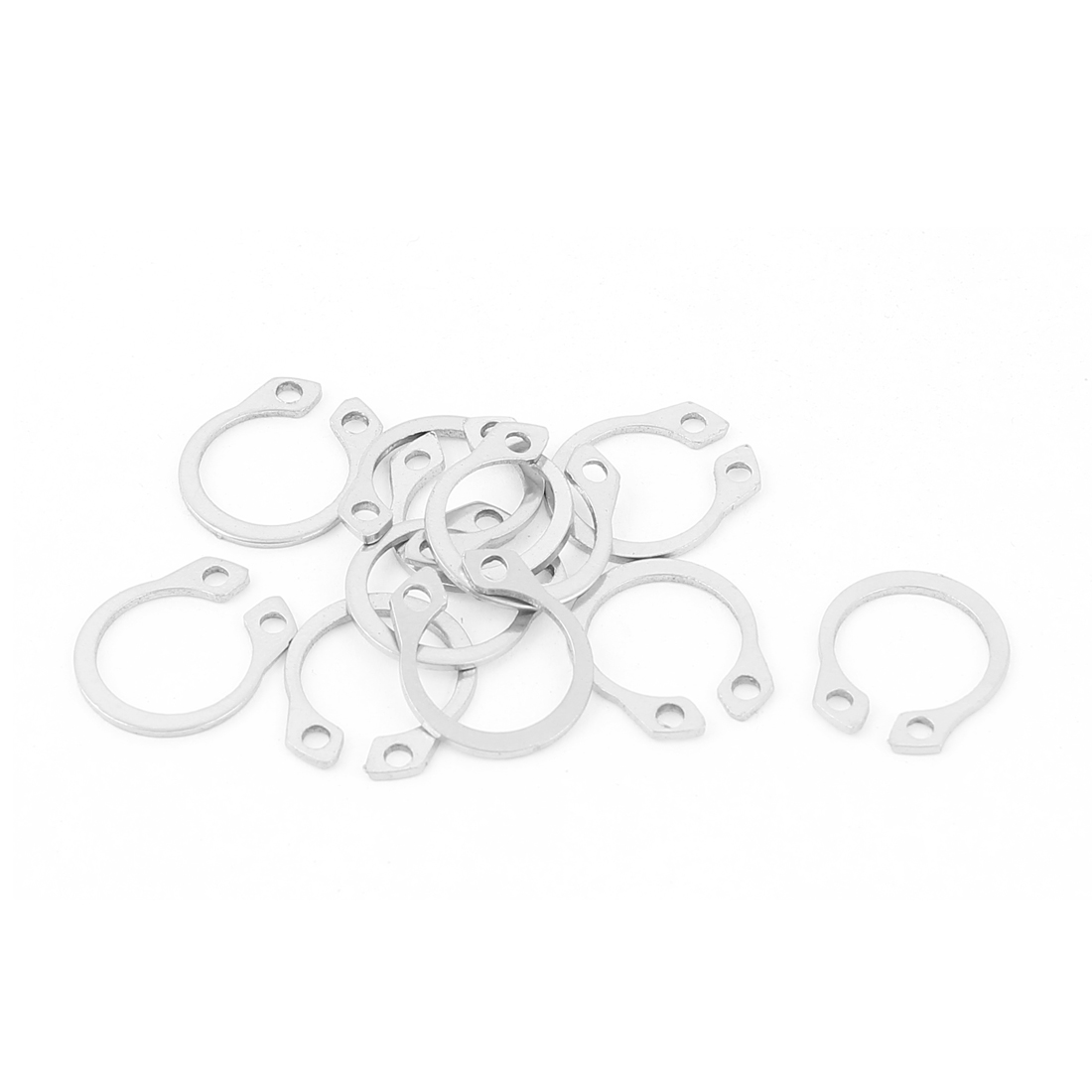 10pcs 304 Stainless Steel External Circlip Retaining Shaft Snap Rings 12mm