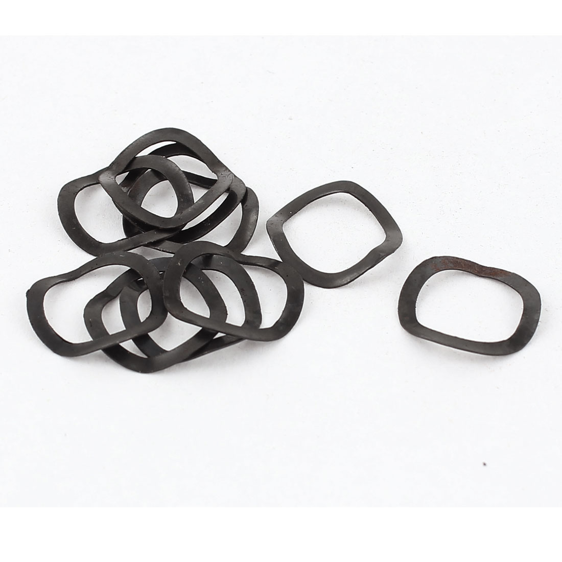 10 Pieces Black Metal Wave Crinkle Spring Washer 10mm x 13.5mm x 0.3mm