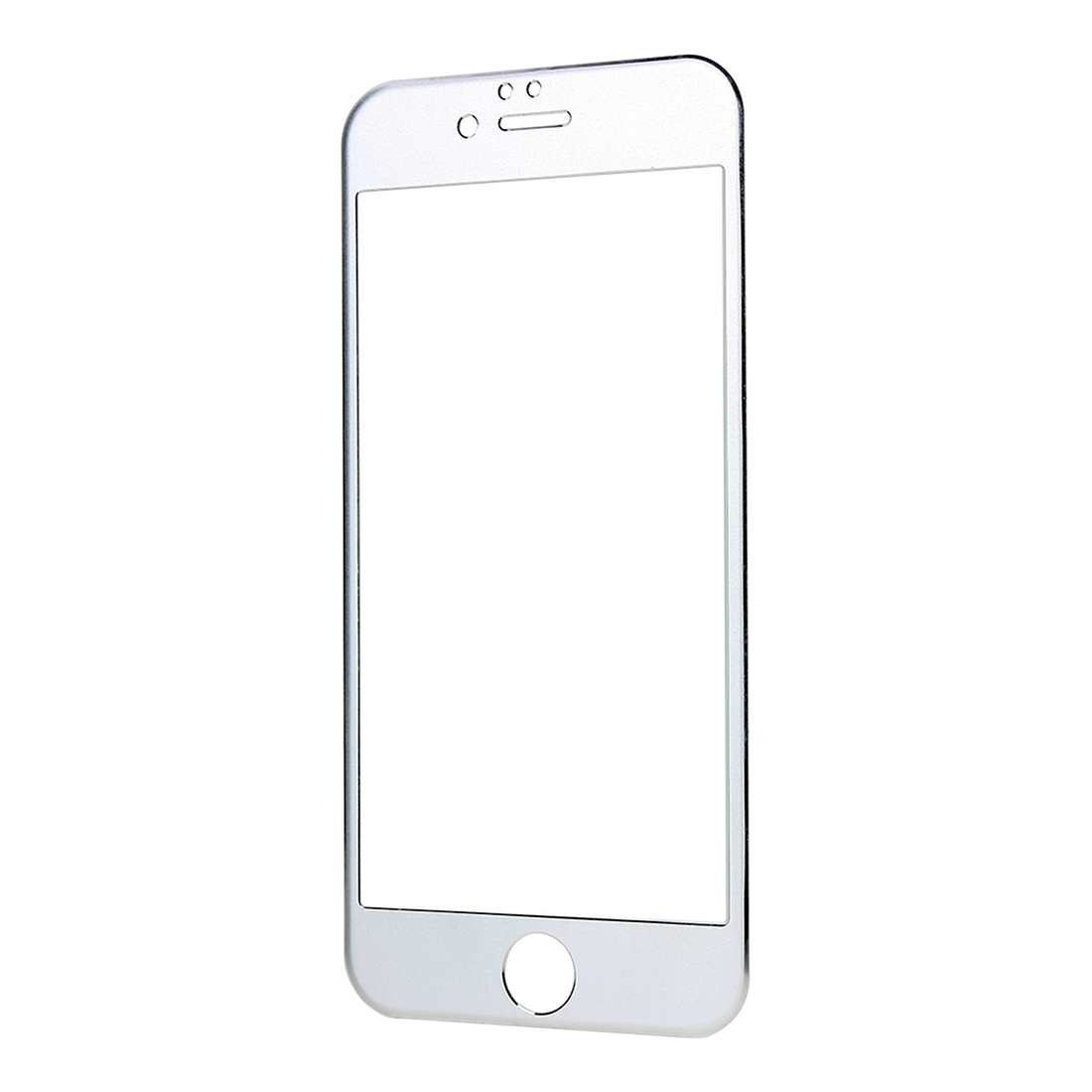 Front Back Mirror Effect Tempered Glass Screen Protector For iPhone 6 Silver Tone