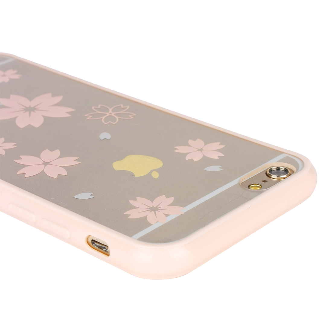 Luxury Transparent Back Case Cover Coral Pink For Apple iPhone 6