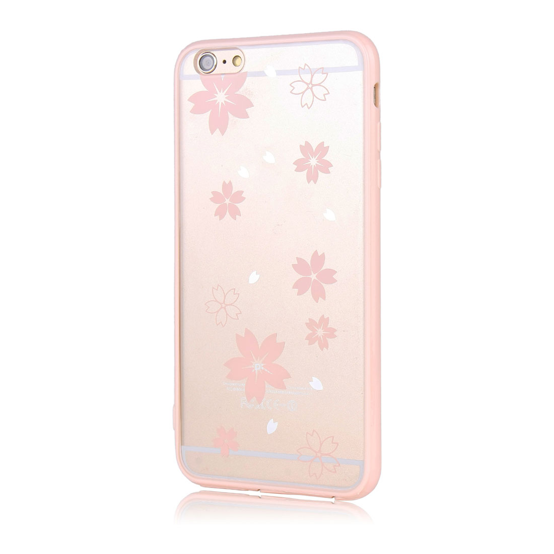 Luxury Transparent Case Cover Pink for Apple iPhone 6 Plus