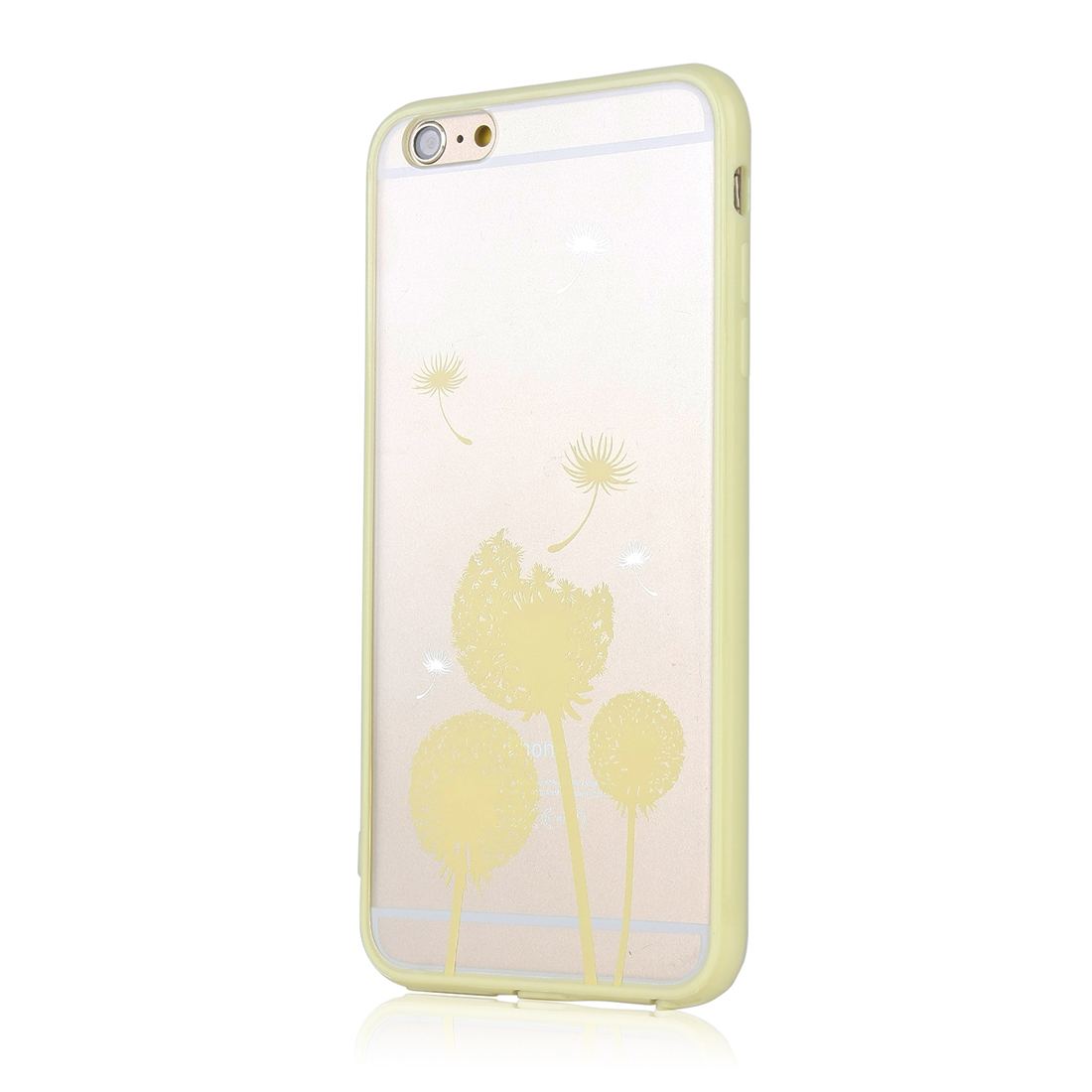 Luxury Transparent Phone Case Cover Yellow for Apple iPhone 6 Plus